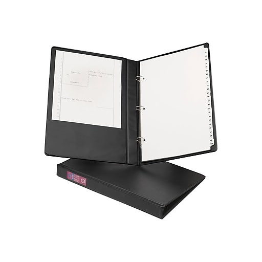 avery 8 5 x 14 inch legal 1 inch round 3 ring binder black 6400