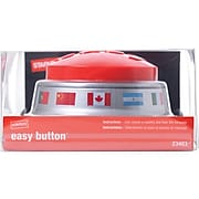 Staples Global Easy Button, Red/Silver (23403)