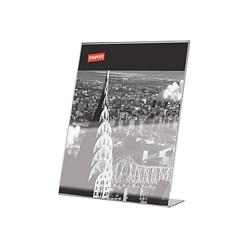 """Staples Sign Holder, 8.5"""" x 11"""", Clear Plastic (53126/18387)"""