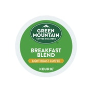 Green Mountain Coffee Roasters Breakfast Blend Coffee, Keurig® K-Cup® Pods, Light Roast, 24/Box (6520)