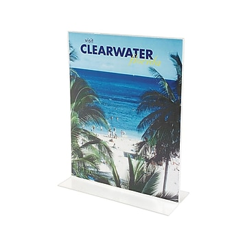 """Staples Sign Holder, 8.5"""" x 11"""", Clear Plastic (16656-CC)"""