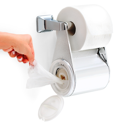 Tidymates® WipeWash System Aloe Infused Flushable Adult Wipes & Dry Toilet Paper Together (DC-B10)