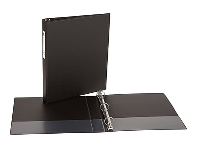 "Avery 1"" 3-Ring Non-View Binder, Matte Black (04301)"