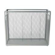 Staples Wire Mesh Storage/Document Box, Silver (26953)