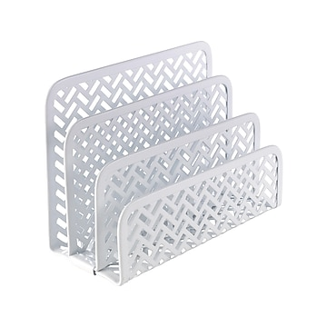 Staples Metal Step Sorter, White (26844)