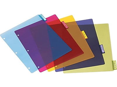 TOPS Cardinal 5 Tab Dividers, Assorted, Set (CRD 84018)