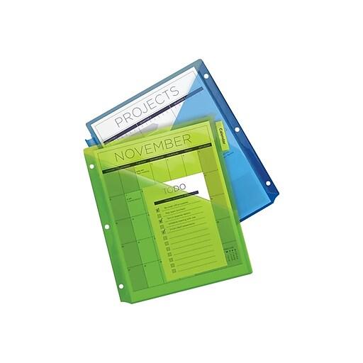 avery 11906 big tab two pocket insertable plastic divider 5 tab