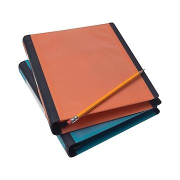 """Staples Better 1"""" 3-Ring Mini Binder, Orange, 5.5"""" x 8.5"""" (20944)"""