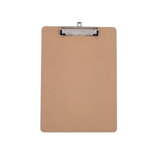 Staples Hardboard Clipboard, Natural Brown (44292)