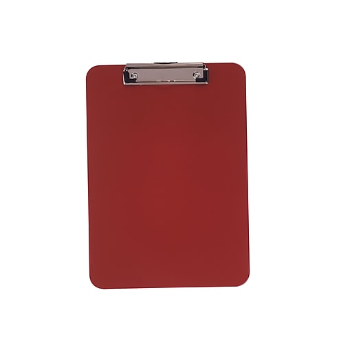 Staples Plastic Clipboard, Red (28528)
