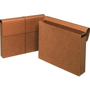 "Staples Paper Stock File Pocket, 3.5"" Expansion, Letter Size, Brown, 10/Box (422675/1053ES)"