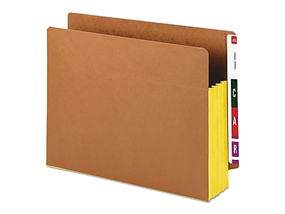Smead Extra Wide Paper Stock File Pocket, 3.5