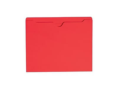 Smead File Jacket, Reinforced Straight-Cut Tab, Flat-No Expansion, Letter Size, Red, 100/Box (75509)
