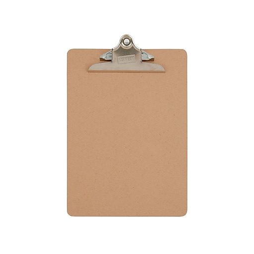 Staples Wood Clipboards, Natural Brown, 3/Pack (44291)