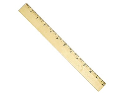 """Staples 12"""" Imperial Scale Ruler (51881-CC)"""