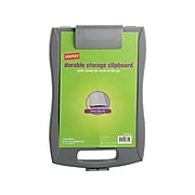 Staples Plastic Storage Clipboard, Letter Size, Gray (44848)