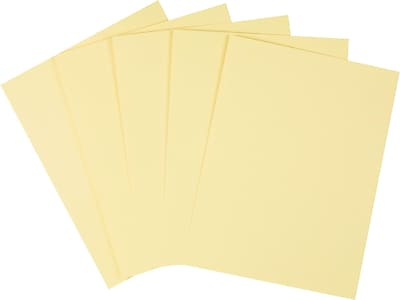 """Staples Cardstock Paper, 110 lbs, 8.5"""" x 11"""", Canary, 250/Pack (49704)"""