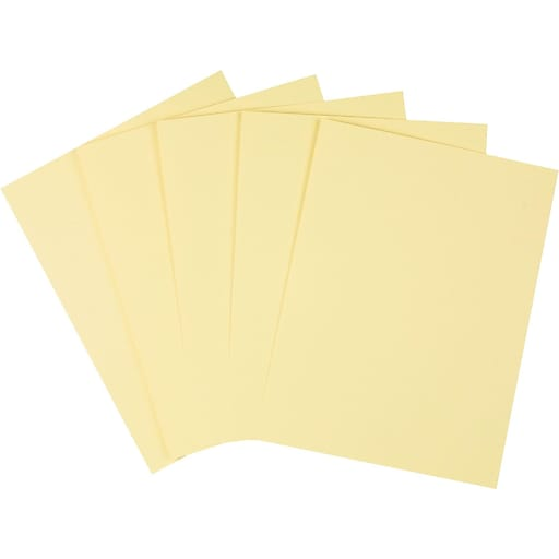 "Staples Cardstock Paper, 110 lbs, 8.5"" x 11"", Canary, 250/Pack (49704)"