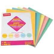 "Staples Pastel Multipurpose Paper, 20 lbs, 8.5"" x 11"", Assorted, 400/Pack (14804)"
