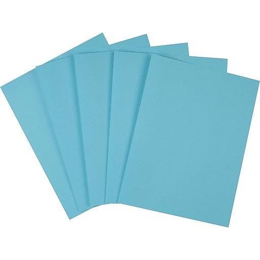 "Staples Brights Multipurpose Paper, 24 lbs, 8.5"" x 11"", Blue, 500/Ream (20101)"