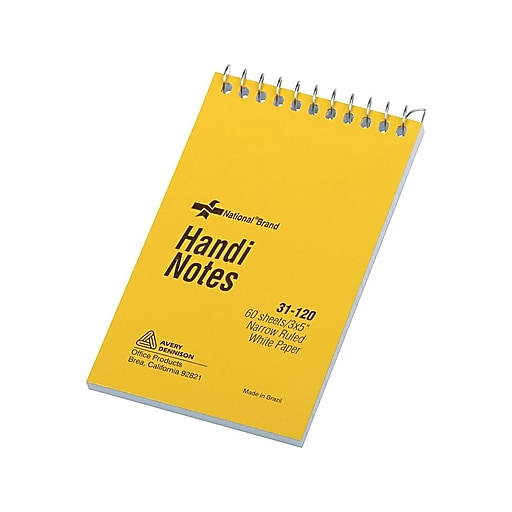 "Xtreme Memo Pad, 3"" x 5"", Narrow, White, 60 Sheets/Pad (31120)"