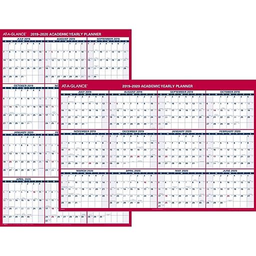July Calendar 2020.2019 2020 At A Glance 32 X 48 Academic Wall Calendar Vertical Horizontal Erasable 12 Months July Start Pm36ap 28 20