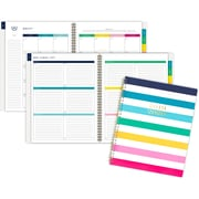 "2019-2020 Simplified 8 3/8"" x 11"" Academic Weekly/Monthly Planner, 12 Months, July Start, Happy Stripe (El201-905a-20)"