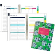 """2019-2020 Simplified 5 3/8"""" x 8 1/2"""" Academic Weekly/Monthly Planner, 12 Months, July Start, Green Floral (El204-200a-20)"""