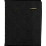 "2019-2020 At-A-Glance 8 7/8"" x 11"" Academic Large Monthly Planner, 18 Months, July Start, Black (70-074-05-20)"