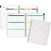 """2019-2020 Simplified 8 3/8"""" x 11"""" Customizable Academic Weekly/Monthly Planner, 12 Months, July Start, Gold Dot (El200-901a-20)"""