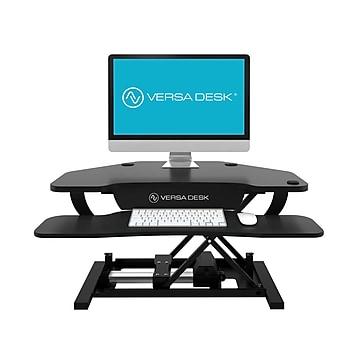 "VersaDesk Power Pro Corner - 36"" Electric Height Adjustable Standing Desk Riser, Black (VT77136330101)"