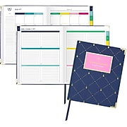 """2019-2020 AT-A-GLANCE 7 3/8"""" x 9 7/8"""" Simplified Academic Weekly/Monthly Planner, Pineapple (EL200-903A-20)"""
