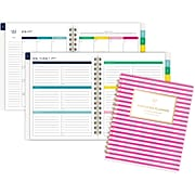 "2019-2020 AT-A-GLANCE 6 7/8"" x 8 7/8"" Simplified Academic Weekly/Monthly Planner, Pink Stripe (EL201-805A-20)"