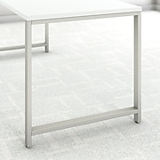 Bush Business Furniture 400 Series 60W x 30D Table Desk with Storage, White/White (400S155WH)