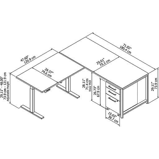 Bush Business Furniture 400 Series 72W L Shaped Desk w
