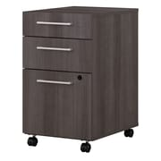 Bush Business Furniture 400 Series 3 Drawer Mobile File Cabinet, Storm Gray, Installed (400SMP3BBFSGFA)