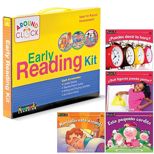 Newmark Learning Spanish Around the Clock Family Involvement Kits, Spanish I Can Read! D-E Kit, Dealer Version (NL2009)