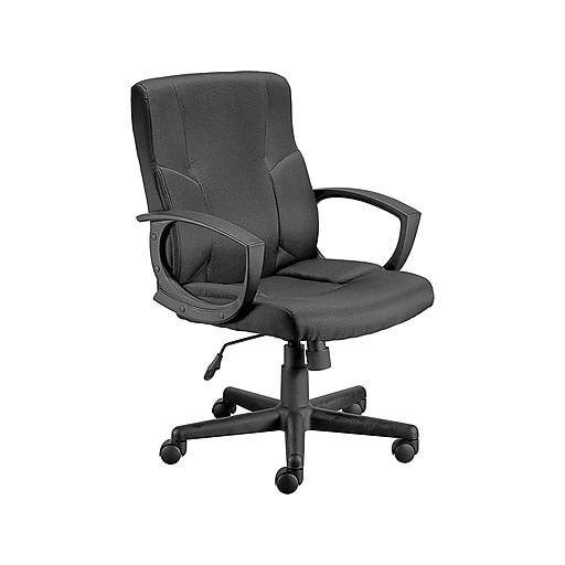 Staples Stiner Fabric Manager Chair, Black (23559-CC)