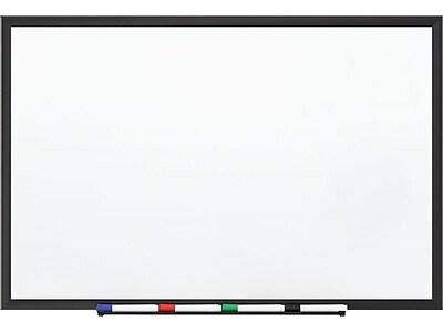 Staples Standard Durable Magnetic Steel Dry-Erase Whiteboard, Aluminum Frame, 4' x 3' (28691-CC)