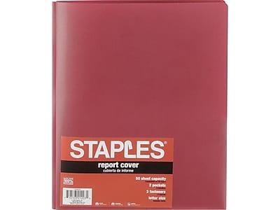 Staples 2-Pocket Fasteners Folder, Burgundy (21644-CC/20630)