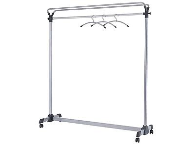 "Alba 66.93""H x 59.06""W Garment Rack, Silver Steel (PMGROUP3)"