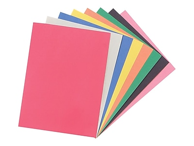"Staples Construction Paper, 9"" x 12"", Assorted Colors, 200 Sheets/Pack (MMK01200S)"
