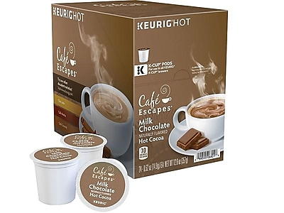 Cafe Escapes Milk Chocolate  Hot Cocoa, Keurig K-Cup® Pods, 24/Box (6801)