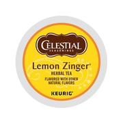 Celestial Seasons Lemon Zinger Herbal Tea, Keurig® K-Cup® Pods, 24/Box (14732)