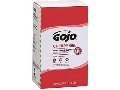 GOJO® Cherry Gel Pumice Hand Cleaner, Cherry Scent, 2000 mL Refill for GOJO® PRO™ TDX™ Dispenser, 4 Count (7290-04)