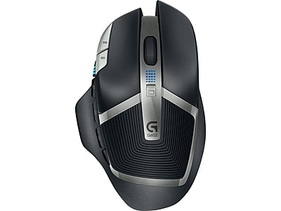 Logitech G602 910-003820 Wireless Laser Mouse, Black/Silver