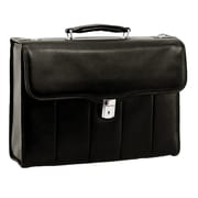 McKlein North Park Executive Laptop Briefcase, Full Grain Cashmere Napa Leather, Black (46555)