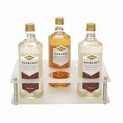 "Mind Reader 4""H Clear Syrup Bottle Holder, 6 Bottle Organizer, 3 Tier Storage, Clear (FLATSYR6-CLR)"