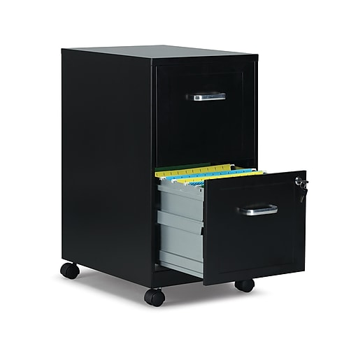 timeless design b4d95 4e81c Staples 2-Drawer Light Duty Vertical File Cabinet, Locking, Letter, Black,  18