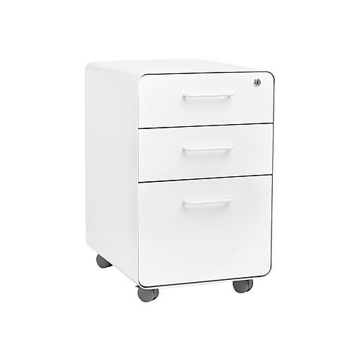 Poppin Stow 3 Drawer Vertical File Cabinet Locking Letter Legal White Https Www Staples 3p S7 Is